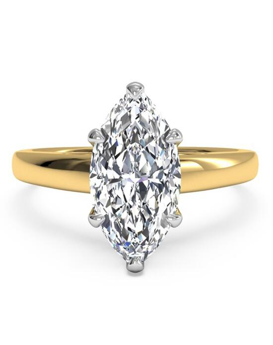 Ritani Solitaire Diamond Cathedral Engagement Ring - in 18kt Yellow Gold for a Marquise Center Stone Engagement Ring photo