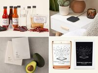 Collage of four gift ideas for child's significant other