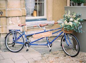 Blue Tandem Bicycle Welcome Display