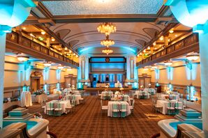 Reception at the John Marshall Hotel with Blue Uplighting