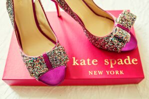Sparkly Kate Spade Heels for the Bride