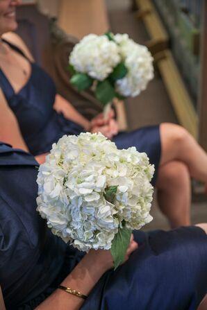 White Bouquets of Hydrangeas