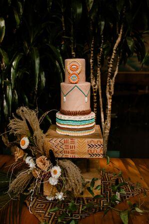 Vegan Wedding Cake Inspired by an African Sunset