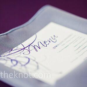 Purple and Gray Menu Cards
