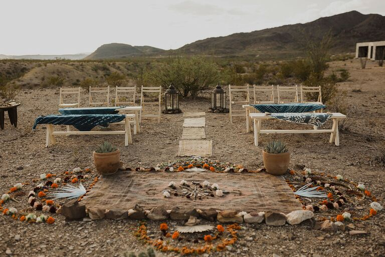 Ceremony in the desert