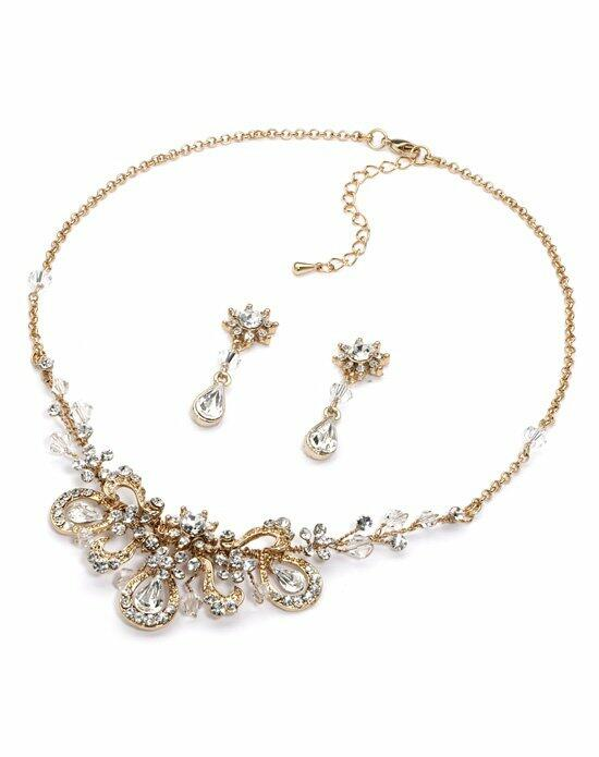 USABride Lilah Floral Gold Jewelry Set Wedding Necklaces photo