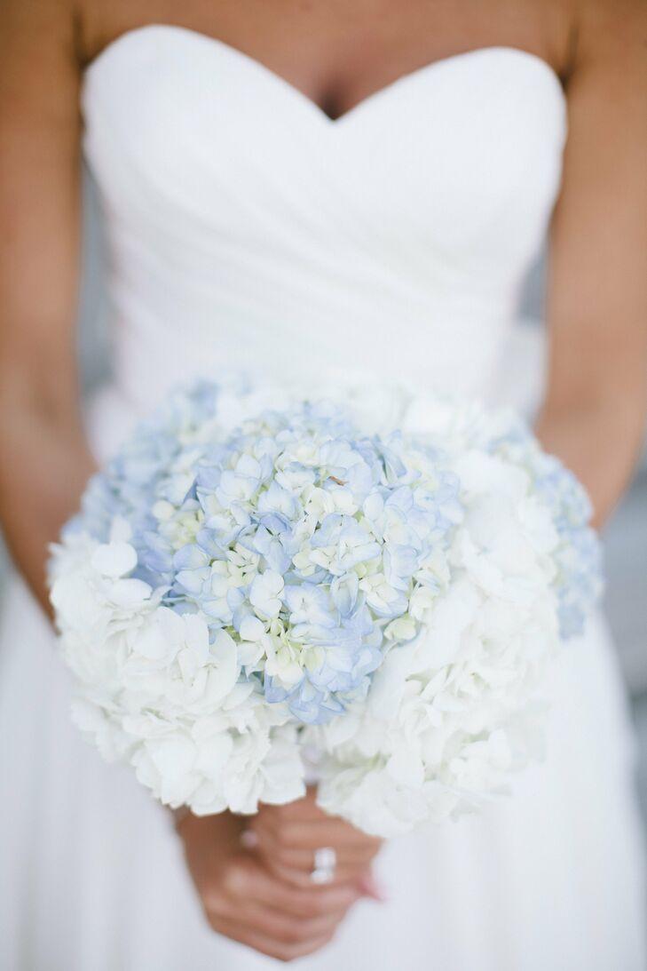 Blue and White Hydrangea Bridal Bouquet