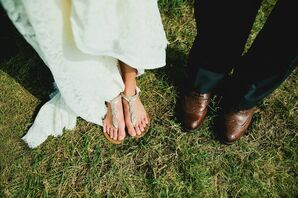 Sparkly Bridal Sandals