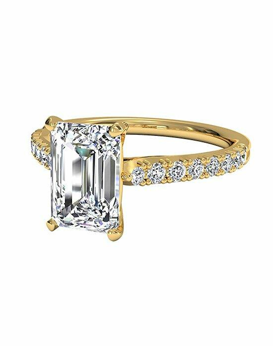 Ritani Emerald Cut French-Set Diamond Band Engagement Ring in 18kt Yellow Gold (0.23 CTW) Engagement Ring photo