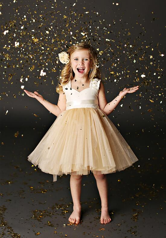 FATTIEPIE Grace Champagne Flower Girl Dress photo