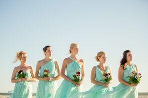 Rented Little Borrowed Dress Mint Bridesmaid Dresses