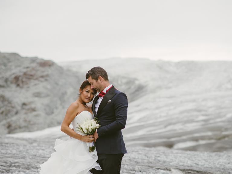 Couple on Glacier