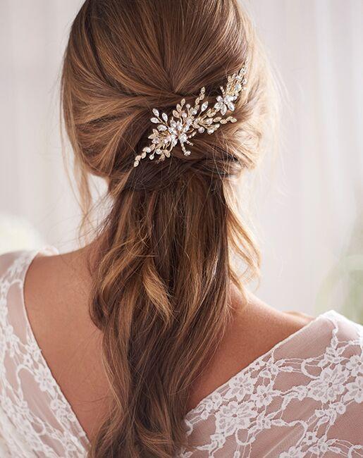 Dareth Colburn Portia Crystal Hair Clip (TC-2432) Gold, Silver Pins, Combs + Clip