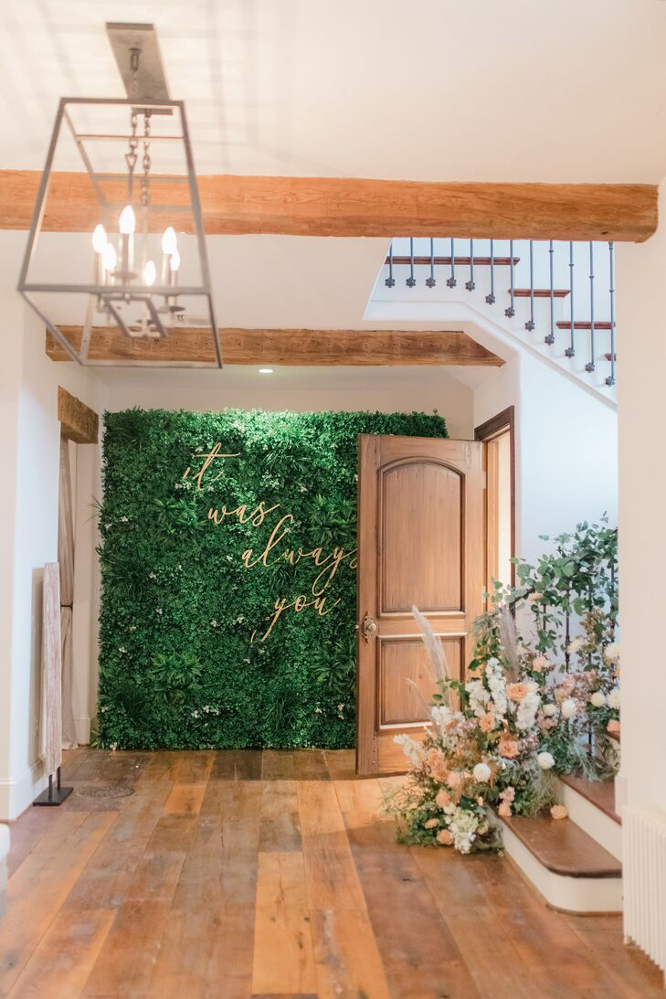 Greenery Wall Decoration for Wedding in Baltimore, Maryland