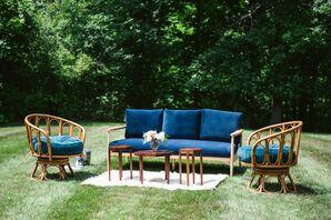 Blue Velvet Lounge Seating in Ann Arbor, Michigan