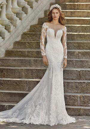 Demetrios DP457US Mermaid Wedding Dress
