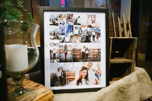 Engagement Photo Collage Display