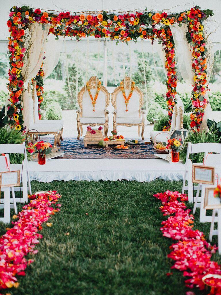 Multicultural wedding ceremony décor