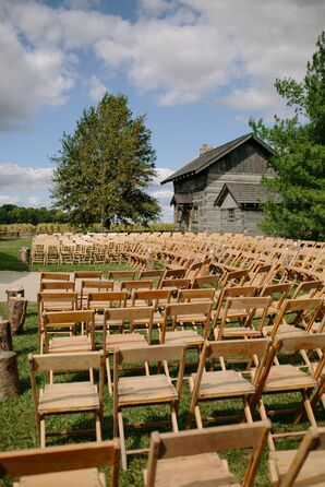 Wood Folding Chair Ceremony Seating
