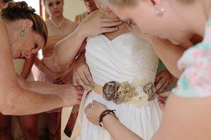 DIY Rustic Bridal Sash