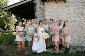 White Taffeta Wedding Dress with Sweetheart Neckline