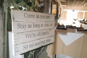 DIY Open Seating Sign