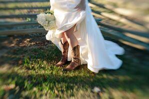 Rustic Bridal Cowboy Boots