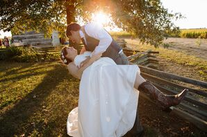 Bride and Groom in Picturesque Natural Landscape