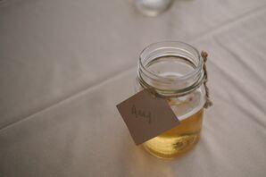 Mason Jar Cups with Nametags
