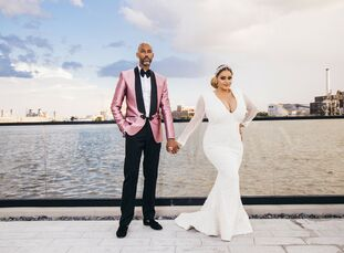 """Lauren Beamon (36 and an event planner) and Tarik Dickens' (46 and a real estate investor) love story is the stuff of rom-coms. """"We were walking down"""
