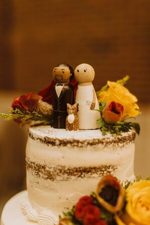 Wooden Doll Cake Topper  at The Rattlesnake Club in Detroit, Michigan