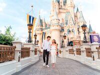 Disneyland proposal ideas magic kingdom cinderella's castle