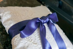 Ring Bearer Pillow with Lace from Mother of the Bride's Wedding Dress
