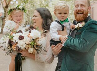 Inspired by their favorite color, black, Paige and Jesse planned a moody, Autumn wedding at Metropolist in Seattle, Washington, filled with dark hues
