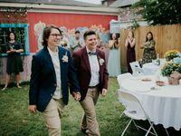 backyward wedding attire