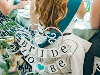 """Bridal shower chair sign: """"Bride To Be"""""""