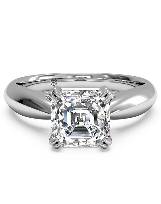Ritani Solitaire Diamond Tulip Cathedral Engagement Ring - in 14kt White Gold Engagement Ring photo