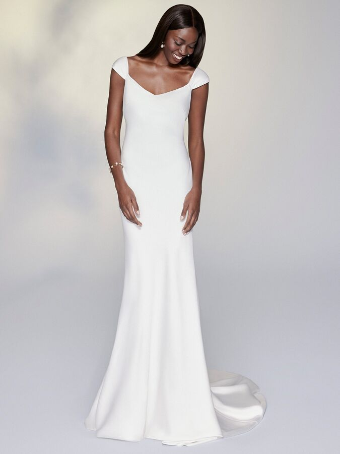 Justin Alexander Signature charmeuse sheath wedding wedding dress