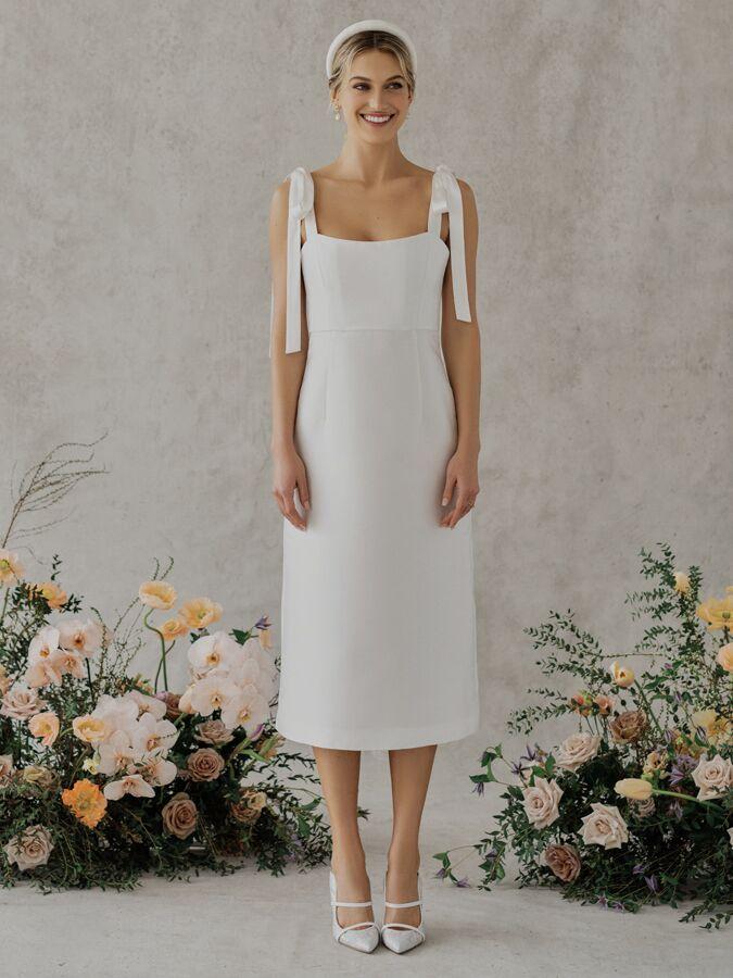 Alexandra Grecco Poppy silk blend satin mikado midi dress