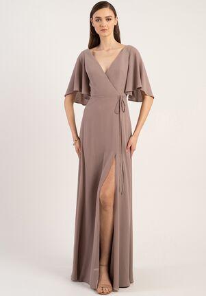 Jenny Yoo Collection (Maids) Ari V-Neck Bridesmaid Dress