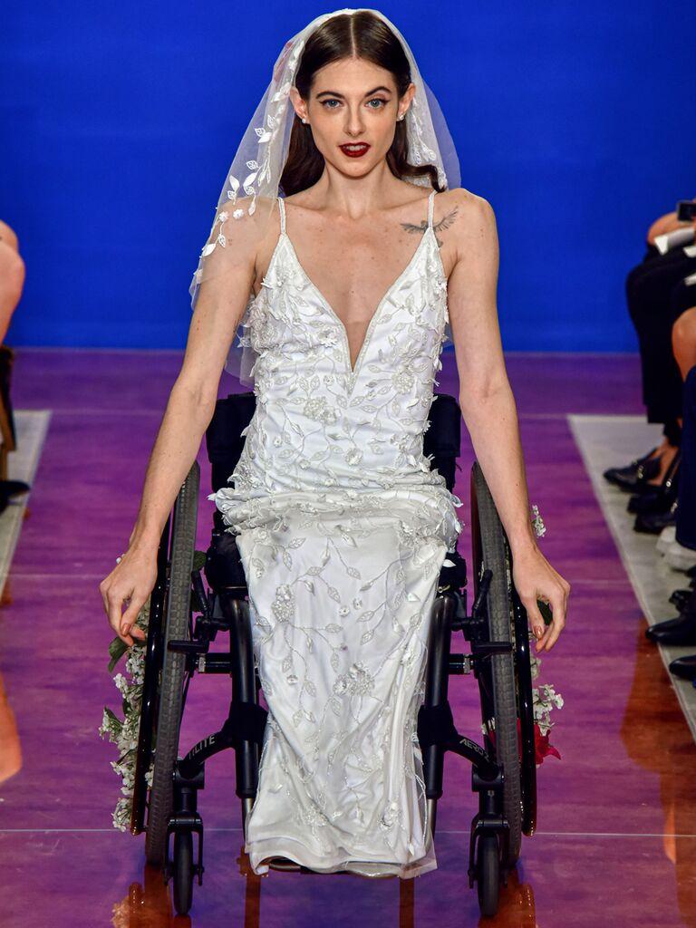 theia wedding dress with veil