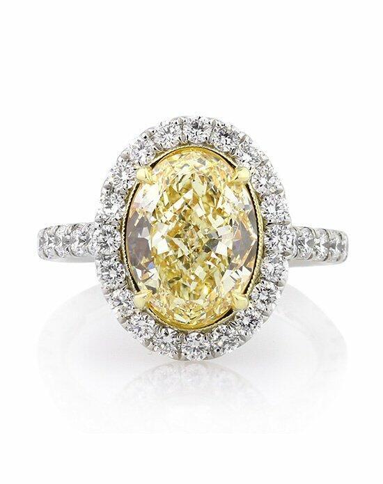 Mark Broumand 5.30ct Fancy Yellow Oval Cut Diamond Engagement Ring Engagement Ring photo