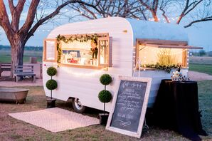 A Camper Parked Outside the Venue Served Custom Margaritas to Guests