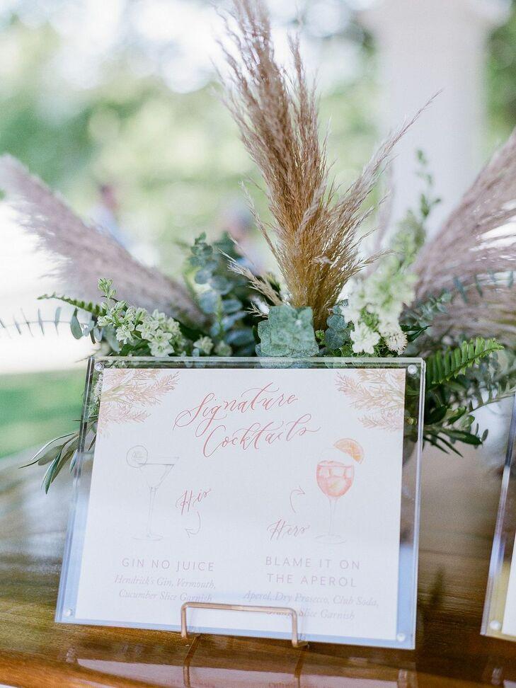 Custom Signage for Wedding at Basin Harbor Club in Vergennes, Vermont