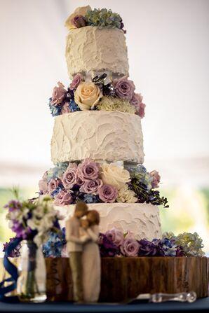 Three-Tier Textured Buttercream Wedding Cake