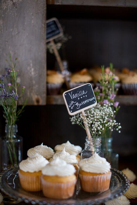 Assorted Buttercream Wedding Cupcakes
