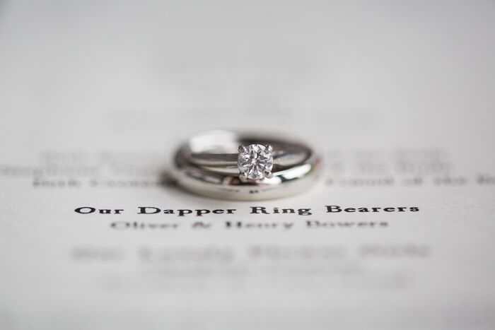 Traditional White Gold Wedding Rings