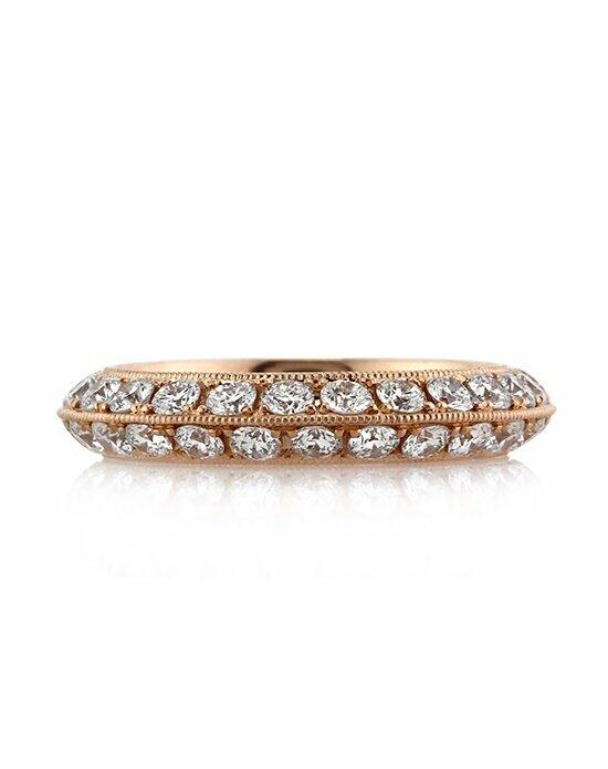Mark Broumand 2.00ct Round Brilliant Cut Diamond Knife-Edge Eternity Band in 18k Rose Gold Engagement Ring photo