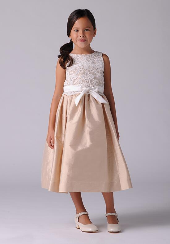 Us Angels Beautiful Color The Azalea Dress-105_Champagne Flower Girl Dress photo