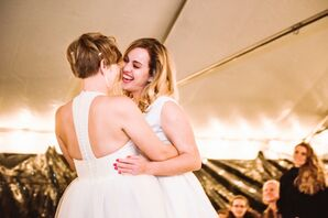 Casual First Dance at a Tented Reception in Maine